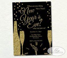 champange new year invitation new years glitter by shysocialites champagne sparkle glitter holiday