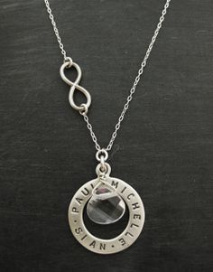 Infinite Love Family Necklace with Rock Crysta. www.luxe-design.com