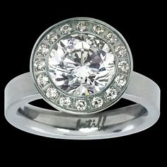 B.TiffAŭreolo Ring, Stainless Steel Ring Tension Set with 1.0ct Diamond Cut    Jewelry & Watches, Fashion Jewelry, Rings   eBay!
