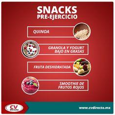 Te compartimos una lista de snacks pre-ejercicio. ¡Te ayudarán a tener más energía!
