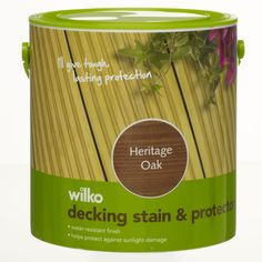 Wilko Decking Stain & Protector Heritage Oak 2.5L at wilko.com
