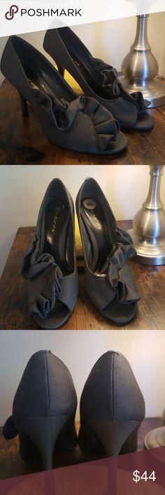 4ab35db69 Flirty ruffled heels Light as a feather heels