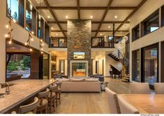 Best Dream House We've all got some ideas of how our dream home and its interior desig. House, Modern House Design, Modern House, House Plans, House Rooms, House Styles, House Interior, Modern Mountain Home, Home Interior Design