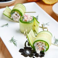 Cucumber and Feta Rolls More