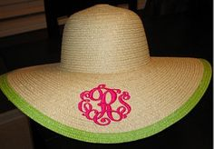 I need this monogrammed hat for the beach!