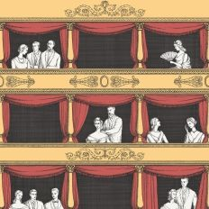 Papier peint - Cole and Son - Teatro - Red & Yellow