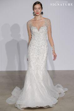 83850ce165c4 Look 13 | 99014 | Long Sleeve Illusion Beaded Mermaid Wedding Dress Justin  Alexander Signature,