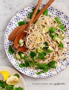 Avocado & Lemon Zest Spaghetti / loveandlemons.com