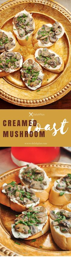 Mushrooms cooked with white wine and cream, then topped onto warm toast spread with garlicky cream cheese. Creamed mushroom toast for the win! 15 Min Meals, 30 Minute Meals, Savoury Dishes, Food Dishes, Side Dishes, Creamed Mushrooms, Stuffed Mushrooms, Mushroom Toast, Easy Family Meals
