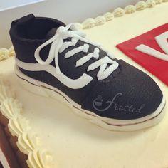Vans Birthday Cake - gumpaste shoe