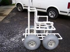 DIY beach wheelchair..