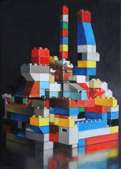 Allan Innman's Lego-scapes – more colorful images @ http://www.juxtapoz.com/Illustration/allan-innmans-lego-scapes# – #art #legos
