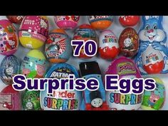 70 Surprise Eggs Kinder Surprise Thomas and Friends Play Doh Peppa Pig D... 70, yes, 70 Surprise Eggs all in one video.  #surpriseeggs #kindersurprise #playdoh #thomasandfriends #disney #frozen #cars #planes #hellokitty #pollypocket #chocolate #spiderman #marvel #superheroes