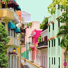 """Old San Juan, Puerto Rico because of its tropical alleyways."" - @mattcrump"