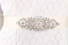 * Romantic wedding embroidered flowers with beaded lace sash, wedding dress belt  It is perfect accessory for bride, bridesmaids or lots of special