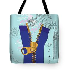 Marina Usmanskaya Tote Bag featuring the digital art Discovery Venice by Marina Usmanskaya #MarinaUsmanskayaDigitalArt#Venice#ArtForHome#FineArtPrints