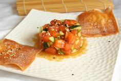 Ginger Honey Salmon Tartare