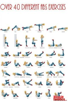 Personal Trainer - 40 DIFFERENT AB EXERCISES