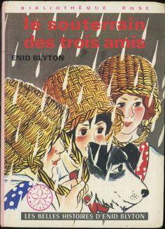 Patrice Harispe - Le Souterrain Des Trois Amis (Les Belles Histoires D'Enid Blyton) - Enid Blyton, Hachette Bibliothèque Rose Minirose 1978