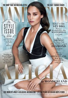 Alicia Vikander featured on the Vanity Fair USA cover from September 2016
