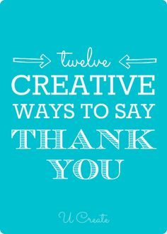 "Many Creative Ways to Say ""Thank You"""