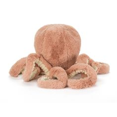 De lieve kleine Odell de Octopus knuffel is van het Engelse merk Jellycat. Nu in een leuk (handig mee te nemen) mini formaatje van 23 cm groot, van hoofd tot puntje van een van de acht armen en de grootste knuffelkont van de oceaan.