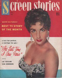 Elizabeth Taylor on Screen Stories for December 1954