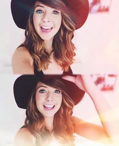 Zoella } I love her short hair with that hat } so cute } Cxx