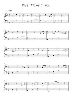 Easy Piano Lessons River Flows In You Piano Sheet Music Letters, Easy Sheet Music, Clarinet Sheet Music, Easy Piano Sheet Music, Music Chords, Violin Music, Piano Songs, Sheet Music Notes, Keyboard Sheet Music