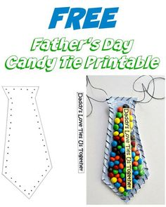 Father's Day Candy Tie Printable Craft is part of Father's day activities - his favorite candy! Kids Fathers Day Crafts, Fathers Day Art, Happy Fathers Day, Fathers Day Gifts, Grandparent Gifts, Diy Father's Day Gifts Easy, Father's Day Diy, Diy Gifts For Dad, Father's Day Activities