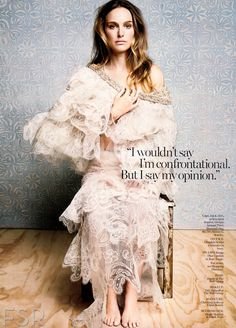 Opinionated and not afraid to say it.   US Marie Claire November 2013 : Natalie Portman by Tesh