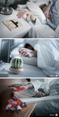 ouch ~ Seiko WakeUp ADS | #ads #marketing #creative #werbung #print #advertising #campaign