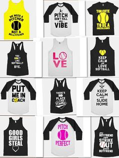 softball / baseball quotes shirts