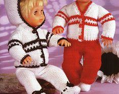 Baby Dolls Knitting Patterns Baby Dolls Dress Dungarees | Etsy