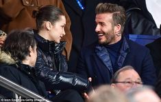 I can't Bella-ieve you're here! David Beckham looks delighted as he introduced himself to ...
