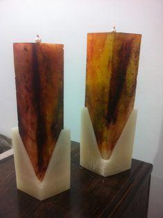 VELAS ARTESANAIS - Velas marmorizadas com caixa - 2016