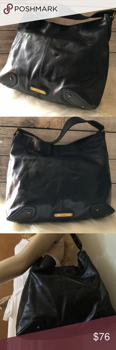 4b95c5dafe2 COLE HAAN Gorgeous Large Black Leather Hobo Sac Superb, very large and  roomy hobo sac