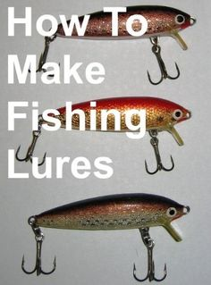 how to make fishing lure molds