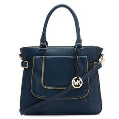 MICHAEL Michael Kors Large Naomi Satchel Navy - $130.00 : Bag Store | ebagstore.com