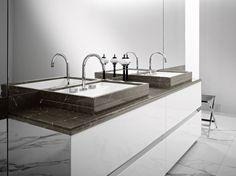FOUR SEASONS 17 - Top marble A58 Amani.  Washbasin mod. Boston 65 mineralmarmo,  marble A58 Amani outside