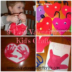 9 Easy #Valentine Kid Crafts | + Link Up for Valentine's Crafts/Ideas/Recipes @ Saving Toward A Better Life #kids