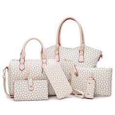 76ea27fae68d New 6 Piece Set Women Bags Leather Handbags High Quality Fashion Casual  Shoulder Bag Female Purse Designer Brand