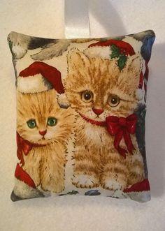 Christmas Cat Fabric Lavender Bag / Stocking Filler / Cat Christma Gift Handmade in Home, Furniture & DIY, Home Decor, Other Home Decor | eBay