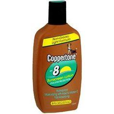 COPPERTONE SUNBLOCK LOT SPF-8 8 OZ by SCHERING-PLOUGH HEALTH NO POST. $16.82