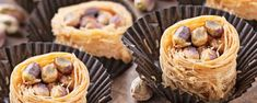 Φωλιές κανταϊφιού με φιστίκια Aιγίνης Greek Sweets, Deserts, Pie, Ethnic Recipes, Food, Torte, Cake, Fruit Cakes, Essen