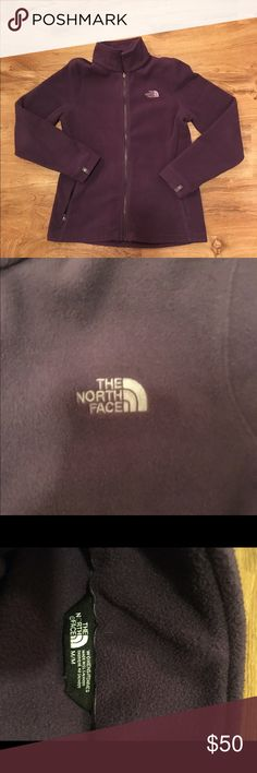 Purple North Face! ❄️ Super soft zip up north face fleece. Worn/washed one time and line dried. In perfect condition! I only ever reach for my black one so figured someone could get better use out of this ☺ North Face Jackets & Coats