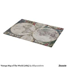 Vintage Map of The World (1685) Cutting Board