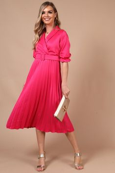 Dresses To Wear To A Wedding, Pleated Midi Skirt, Knee Length Dresses, Chic Outfits, Casual Looks, Beautiful Dresses, Luxury Fashion, Dress Up, Glamour