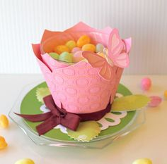 Cute table decor or cup cake holder