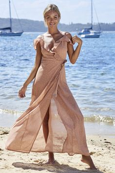 Fit For A Princess Maxi Dress Blush